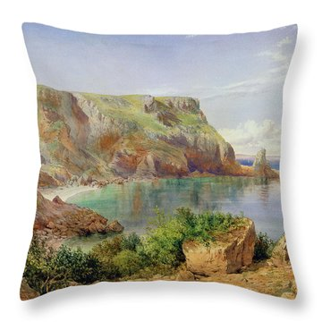 Ansty's Cove Throw Pillow by John William Salter