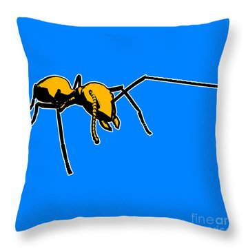Ant Graphic  Throw Pillow by Pixel  Chimp