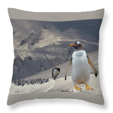 Antarctic Magesty Throw Pillow