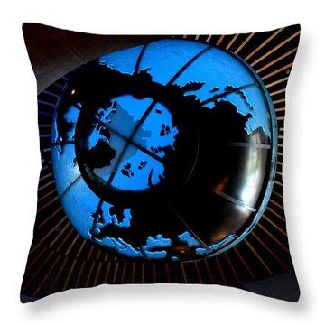 Antarctica Throw Pillow by David Gilbert