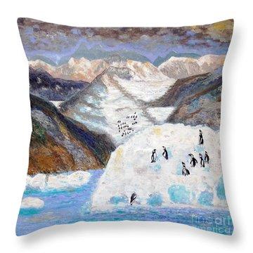 Antarctica1 Throw Pillow by Vicky Tarcau