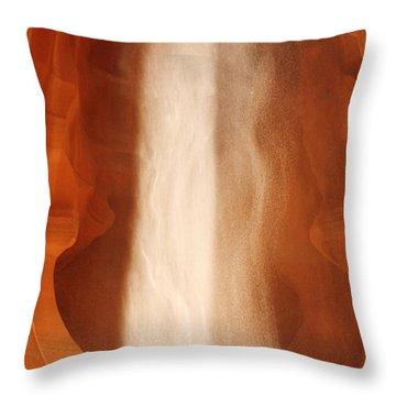 Antelope Canyon - A Spiritual Episode Throw Pillow by Christine Till