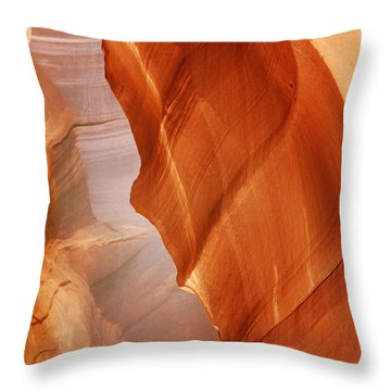 Antelope Canyon - Arizona's Sandstone Cathedral Throw Pillow by Christine Till