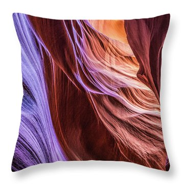 Antelope Canyon Air Glow Throw Pillow