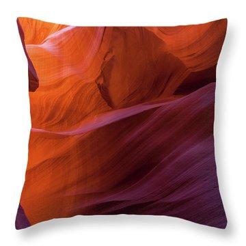 Antelope Canyon Fire Throw Pillow