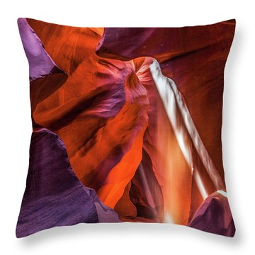 Antelope Canyon Lightshaft 3 Throw Pillow