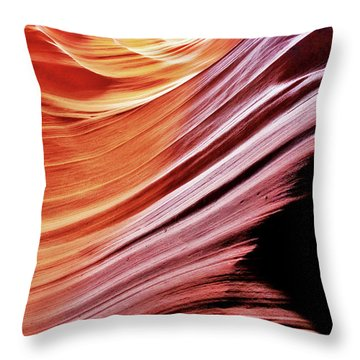Antelope Canyon Throw Pillow by Lorella Schoales