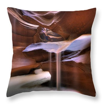 Antelope Canyon Shifting Sands Throw Pillow by Martin Konopacki