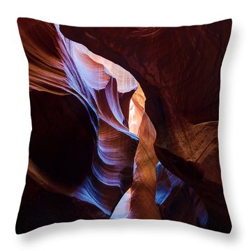 Antelope Canyon Squeeze Throw Pillow