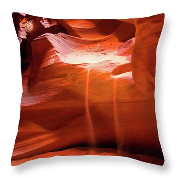 Throw Pillow featuring the photograph Antelope Canyon - The Falls by Howard Bagley