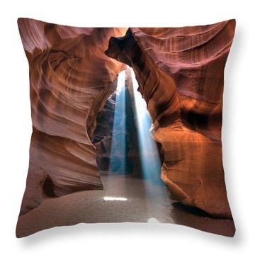 Antelope Canyon Twin Beams Throw Pillow