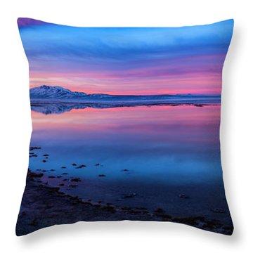 Antelope Island Sunrise Throw Pillow
