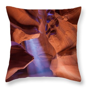 Antelope Lightshaft I Throw Pillow