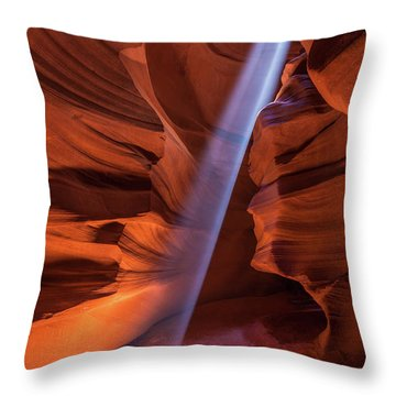 Antelope Lightshaft II Throw Pillow