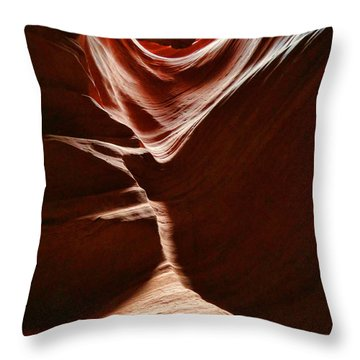 Antelope Valley Slot Canyon 1 Throw Pillow