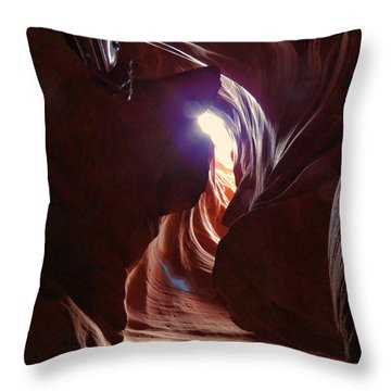 Antelope Valley Slot Canyon 2 Throw Pillow