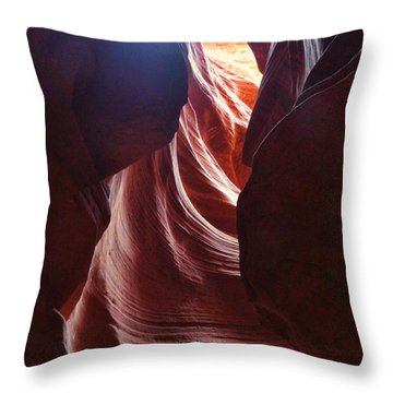 Antelope Valley Slot Canyon 3 Throw Pillow