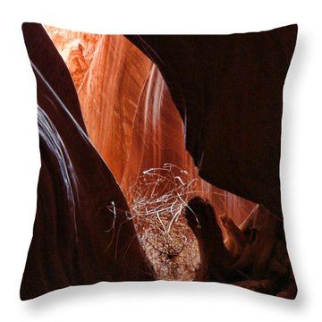 Antelope Valley Slot Canyon 5 Throw Pillow