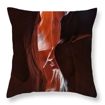 Antelope Valley Slot Canyon 7 Throw Pillow