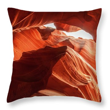 Martin Williams Slot Canyon Throw Pillows