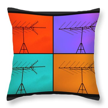 Antenna Pop 1 Throw Pillow