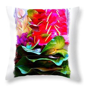 Anthurium  Throw Pillow