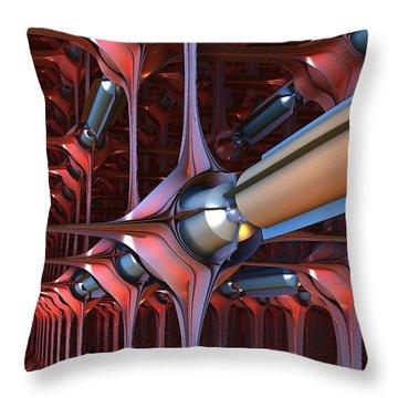 Anti-matter Tubes Throw Pillow