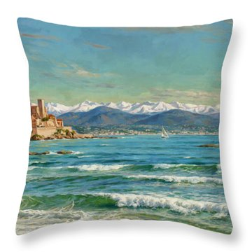 Antibes. South Of France. Throw Pillow