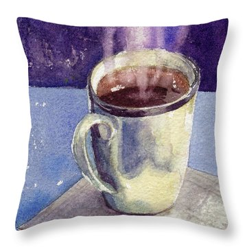 Throw Pillow featuring the painting Anticipation by Kris Parins