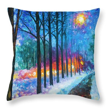 Anticipation Of Spring  Throw Pillow by Leonid Afremov