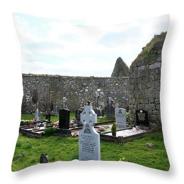Throw Pillow featuring the photograph Antigua Iglesia De Killinaboy, Ireland by Marie Leslie
