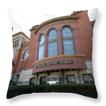 Antioch Baptist Church Throw Pillow