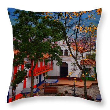 Antioquia Throw Pillow