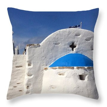 Throw Pillow featuring the photograph Antiparos Island Greece  by Colette V Hera  Guggenheim