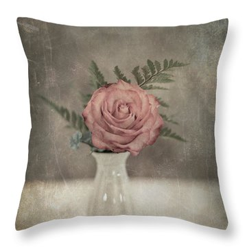Antiquated Romance Throw Pillow