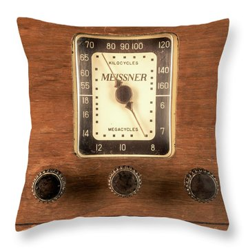 Antique Radio Throw Pillow