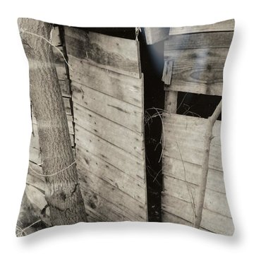 Throw Pillow featuring the photograph Antique Barn Circa 1930s by Renee Trenholm