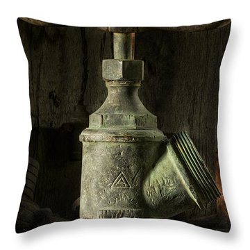 Antique Brass T Valve Throw Pillow
