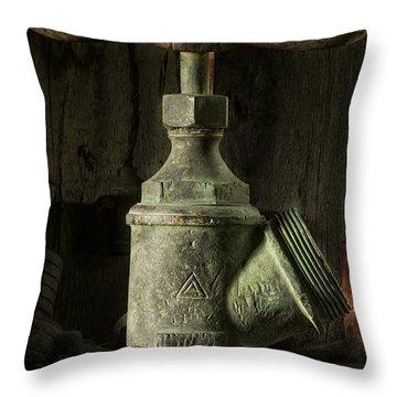 Antique Brass T Valve Throw Pillow