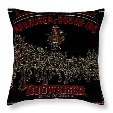 Antique Bud Mirror Throw Pillow