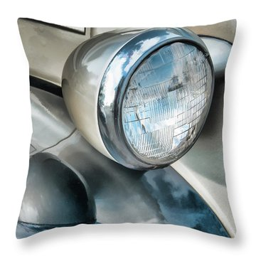 Antique Car Headlight And Reflections Throw Pillow