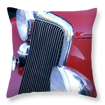 Antique Car Hood Ornament Throw Pillow