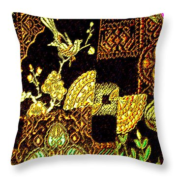 Antique Chinese Fine-thread Art No. 2 Throw Pillow