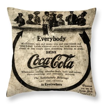 Coke Ad Throw Pillows Fine Art America