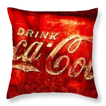 Antique Coca-cola Cooler Throw Pillow