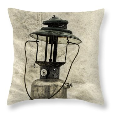 Antique Coleman Lantern Throw Pillow