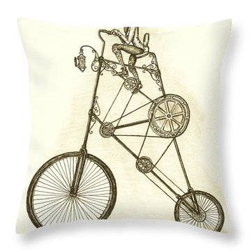 Antique Contraption Throw Pillow by Adam Zebediah Joseph