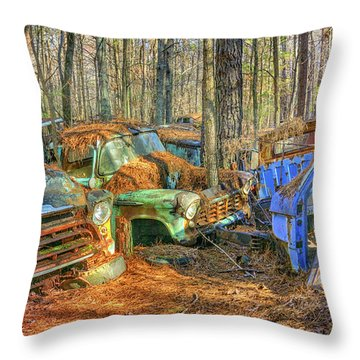 Antique Trucks Throw Pillow