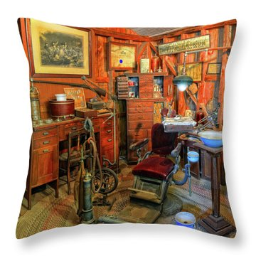 Antique Dental Office Throw Pillow