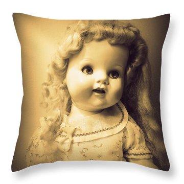 Antique Dolly Throw Pillow by Susan Lafleur